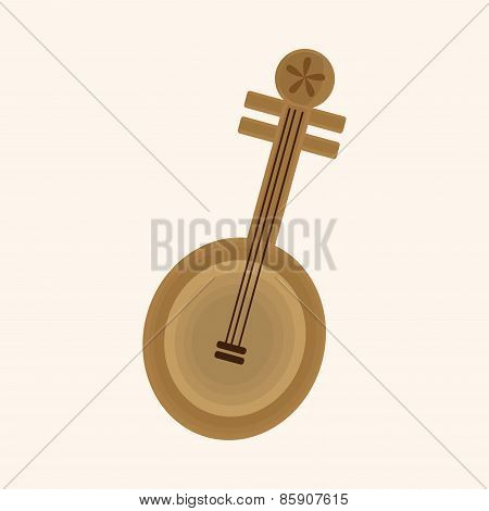 Music Chinese Lute Theme Elements Vector,eps