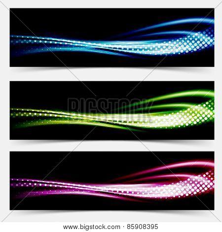 Collection Speed Flow Abstract Swoosh Futuristic Wave Layout