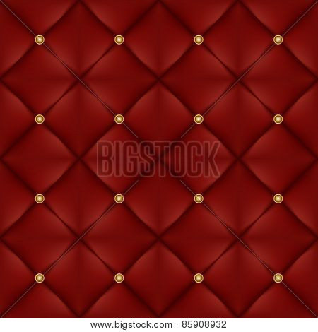 upholstery seamless pattern with gold buttons