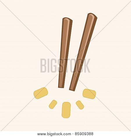 Tableware Chopsticks Theme Elements Vector,eps