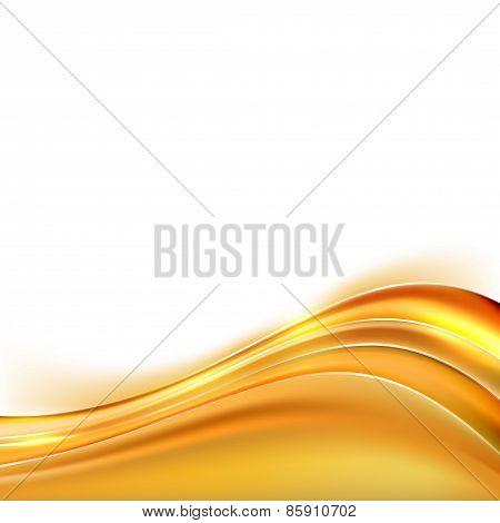 Modern Orange Swoosh Line Border Background Abstract Layout