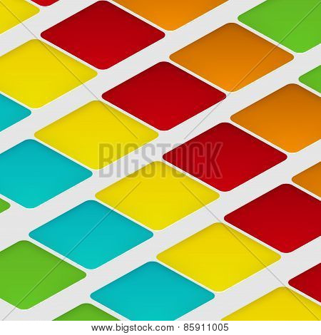 Vector design rhombus on the color
