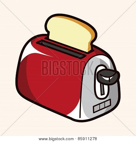 Kitchenware Toaster Theme Elements Vector,eps