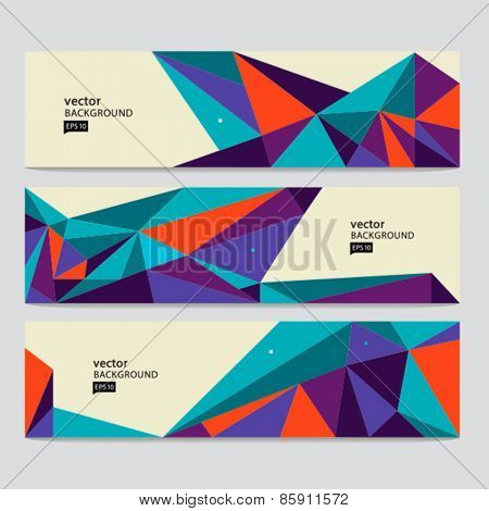 Vector abstract colorful background. Header set