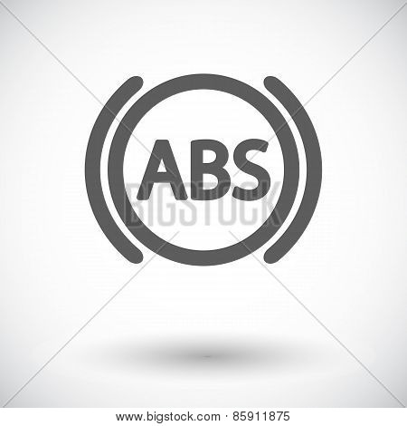 ABS flat single color icon. Vector illustration.