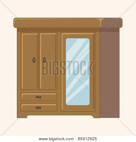 Furniture Theme Cabinet Elements Vector,eps