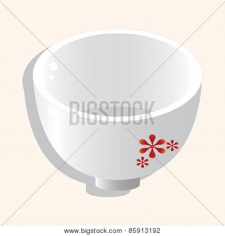 Kitchenware Bowl Theme Elements Vector,eps