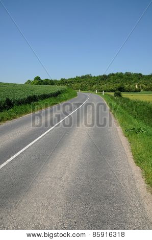 France, A Country Road In Jumeauville