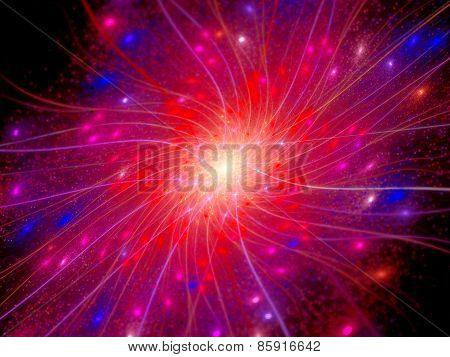 Colorful Connections In Space With Particles