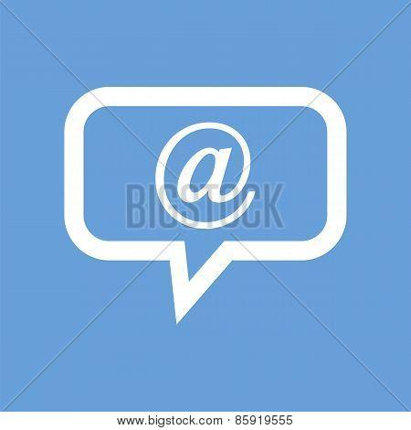 Mail white icon
