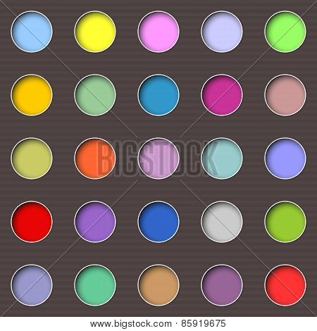 Abstract Multicolored Holes