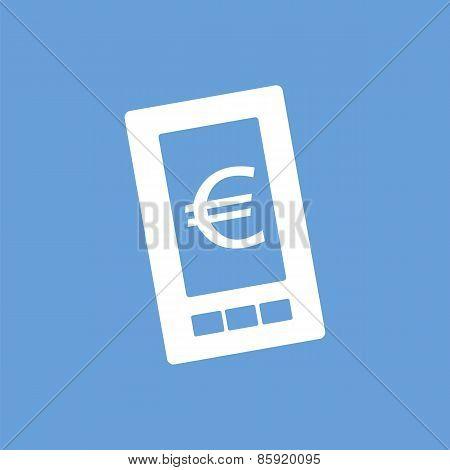 Euro phone white icon
