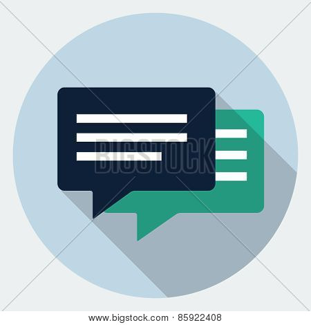 Vector bubble speech icon