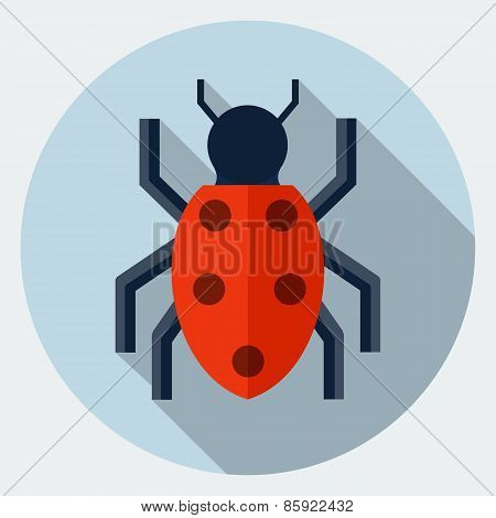 Vector bug icon