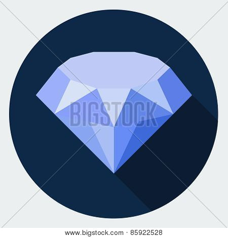 Vector diamond sign icon.