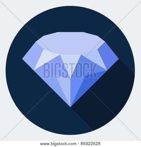 Vector diamond sign icon.