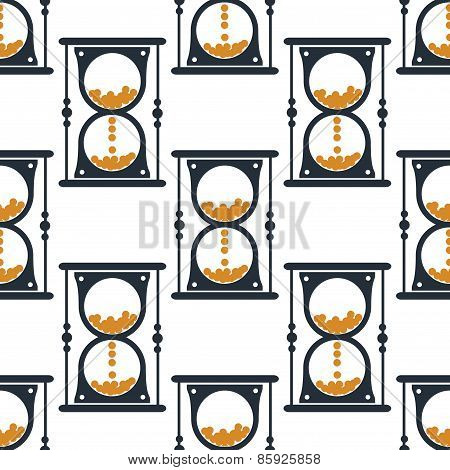 Hourglass or sandglass seamless pattern
