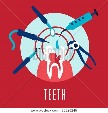Teeth and dentistry concept