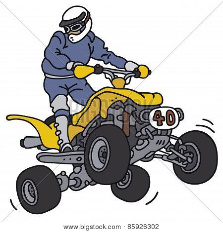Racer on the ATV