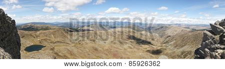 Panoramic View In Picos De Urbion. Source Of Duero. Soria