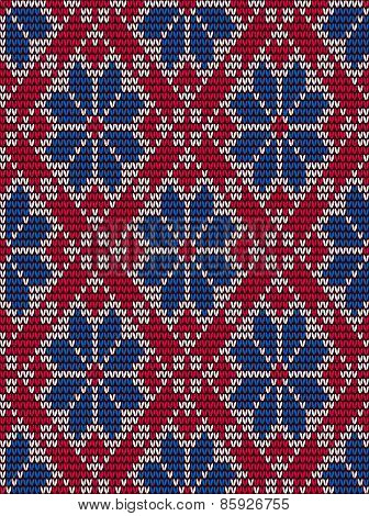 Embroidery seamless pattern in scandinavian style