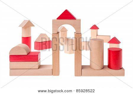 Toy brick village