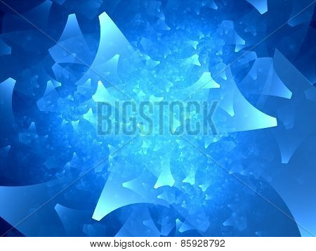 Blue Glowing Shapes Fractal