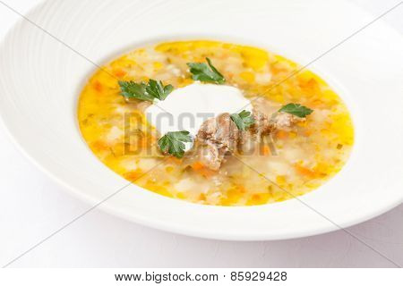 soup with barley