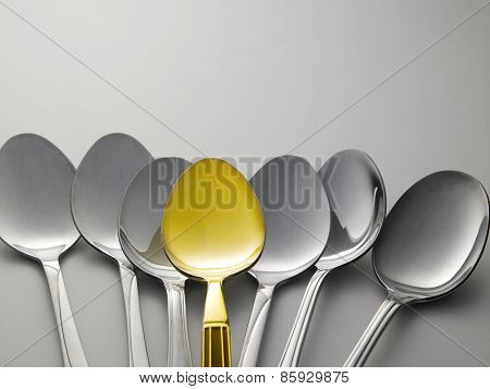 golden spoon stand out from other spoons