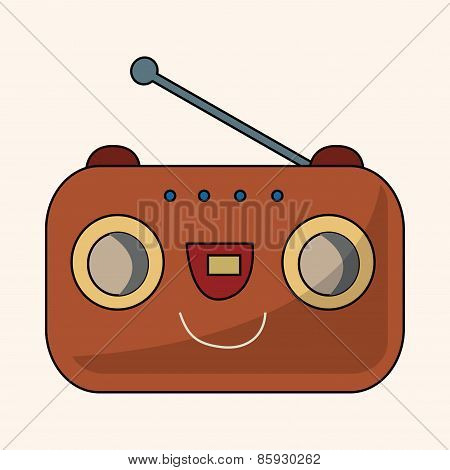 Radio Theme Elements Vector,eps