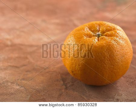 mandarin oranges on the color background