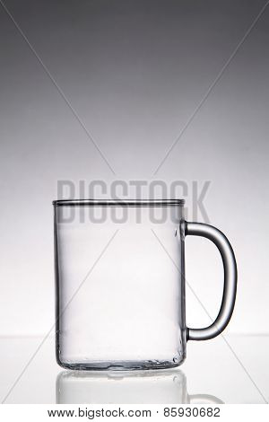 empty transparent glass on top of glass