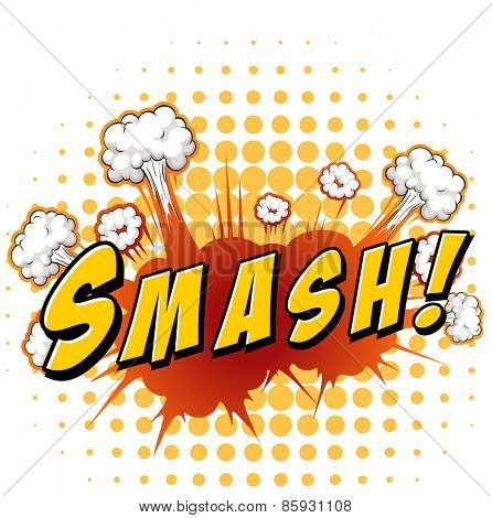 Word smash with explosion background