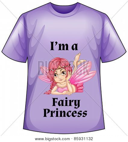 Purple shirt with a fairy princess screen in front