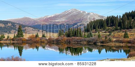 Panoramic view of Scenic landscape near Leadville Colorado