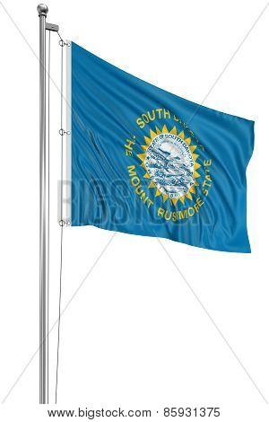 3D South Dakota Flag