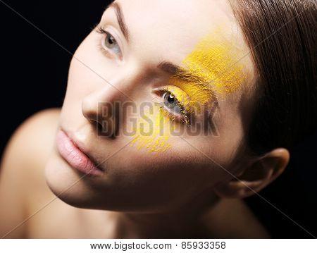 Artistic makeup, expression, imagination