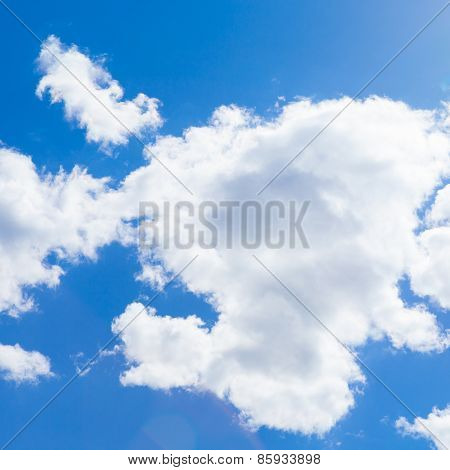 Cumulus Clouds And Blue Sky - Outdoors Shoot