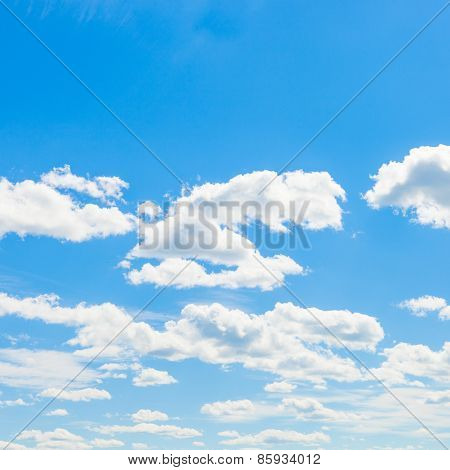 Cumulus Clouds, Blue Sky And Sun - Outdoors Shoot