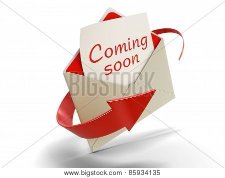 Letter coming soon (clipping path included)