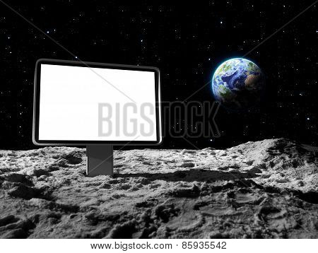 billboard on moon surface