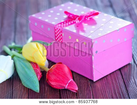 Flowers And Present