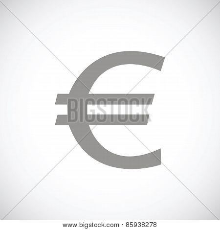 Euro black icon