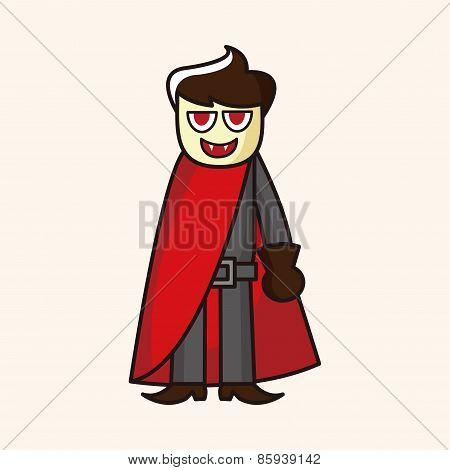 Bizarre Monster Theme Vampire Elements Vector,eps