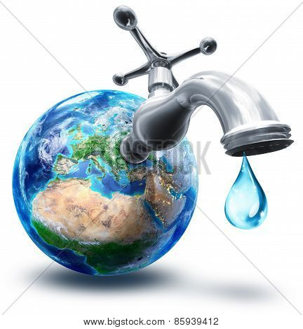 water conservation concept in Europe and Africa