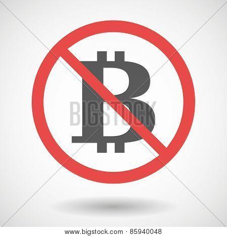 Forbidden Signal With A Bit Coin Sign