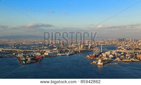 Osaka Bay - an Industrial District in Osaka City, Japan