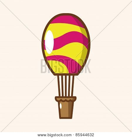 Style Hot Air Balloon Theme Elements Vector,eps