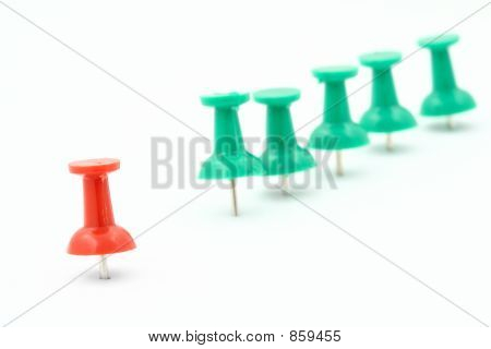 metaphor of group leader  pushpins
