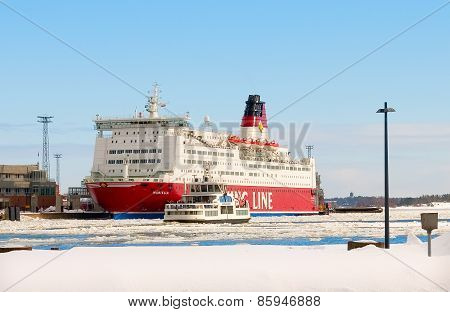 Helsinki. Finland. Passenger ferries in the Gulf of Finland